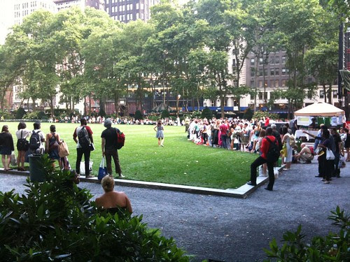 Bryant Park before the film