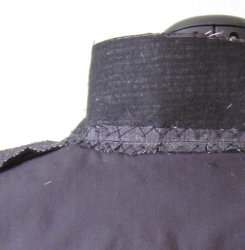 Jacket collar inside