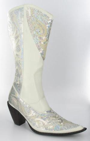 White Bling Boot