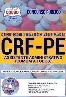 Apostila Concurso CRF PE 2018 | ASSISTENTE ADMINISTRATIVO (COMUM A TODOS)