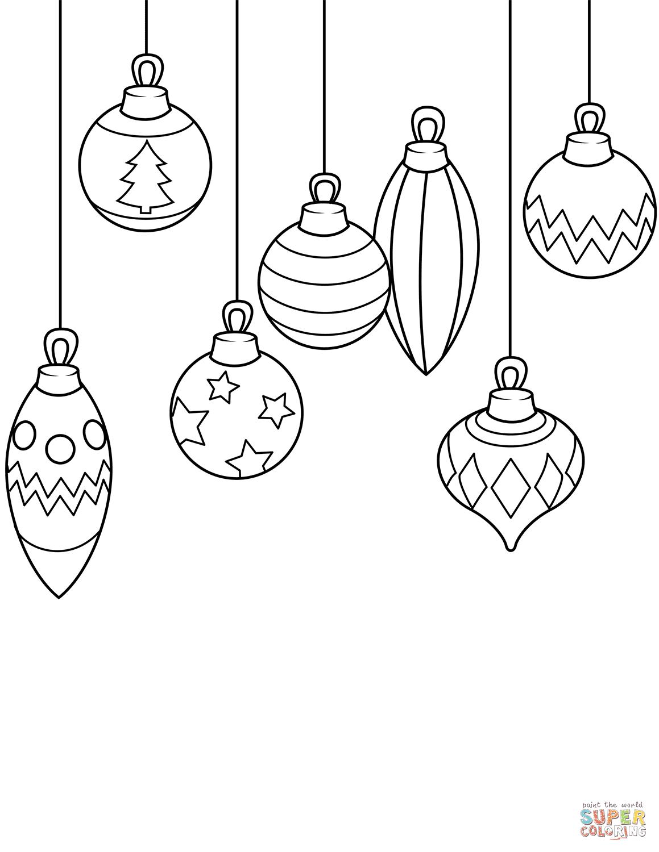 Christmas Ornaments coloring page | Free Printable ...