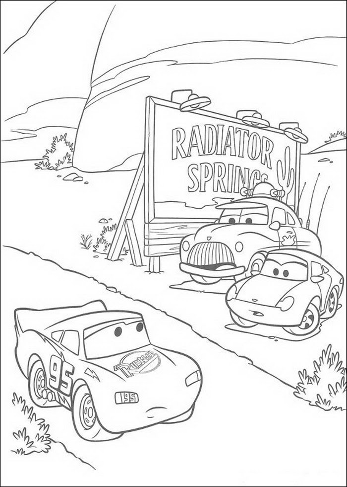 Coloring Page  Cars coloring pages 9