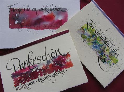 Kartenset,Kalligraphie,3Karten mit Umschlag   Kalligrafie