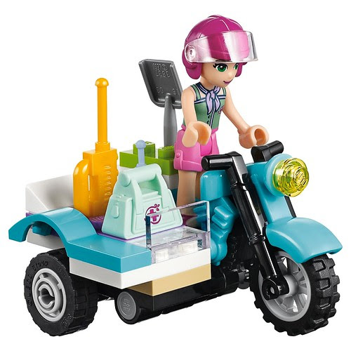 LEGO Friends First Aid Jungle Bike #41032 Emma riding motorbike