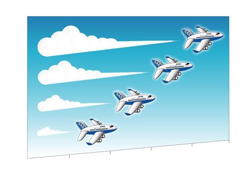 イラスト飛行機 空 航空機suzulalaイラスト無料素材の
