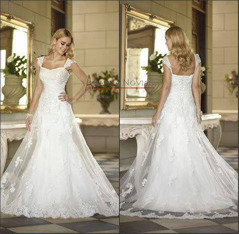 Cap sleeve mermaid lace wedding dress famous bridal