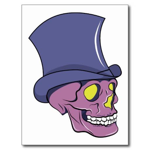 Skull Top Hat Tattoo Skull Fantasy Art Zazzle Clip Art Library