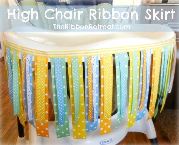 Learn how to make an easy ribbon skirt for the high chair - fun for birthdays!