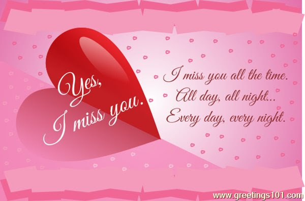 Send Free Ecard Miss You Honey From Greetings101com