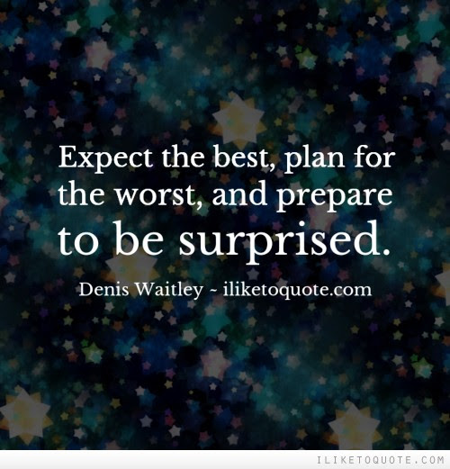 Expect The Best Plan For The Worst And Prepare To Be Surprised