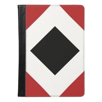 Red, White, Black Diamond Pattern