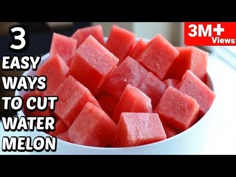 🍉 WATERMELON Easy Cutting - 3 Amazing Ways To Cut A WATERMELON