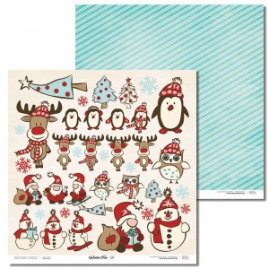 Papier 30x30 cm - Winter Fun - 01 Laserowe LOVE