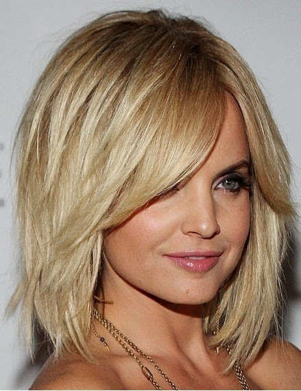 Layered Bob With Heavy Fringe Popular Haircuts