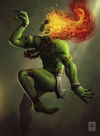 Resultado de imagem para curupira cabelo de fogo