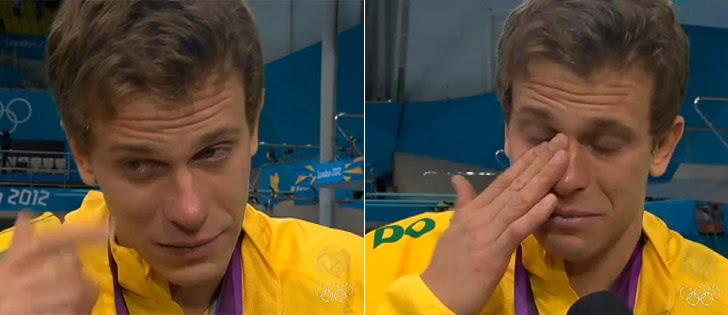 Cielo chora por não conseguiro bicampeonato olímpico