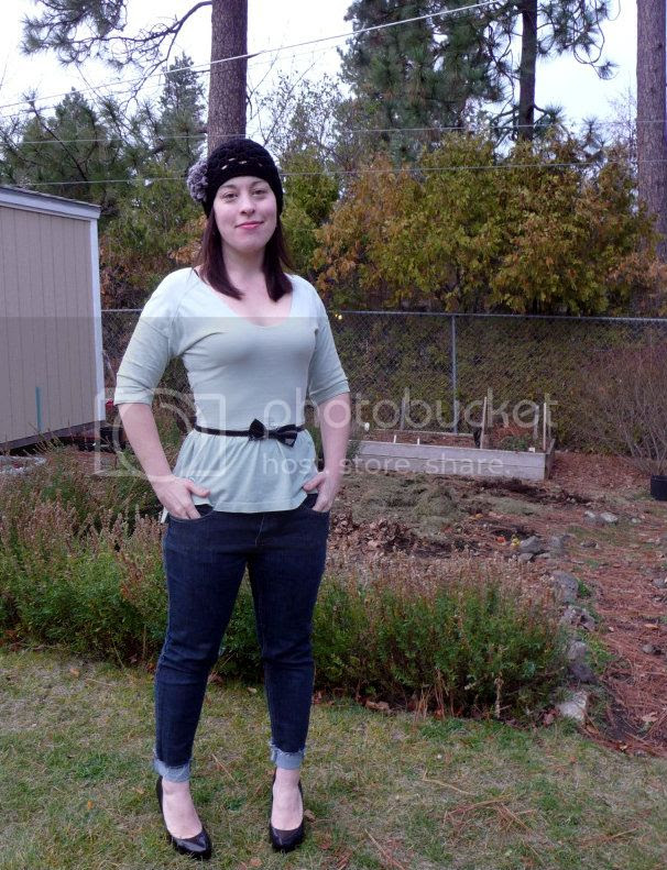 men's polo to women's peplum top refashion