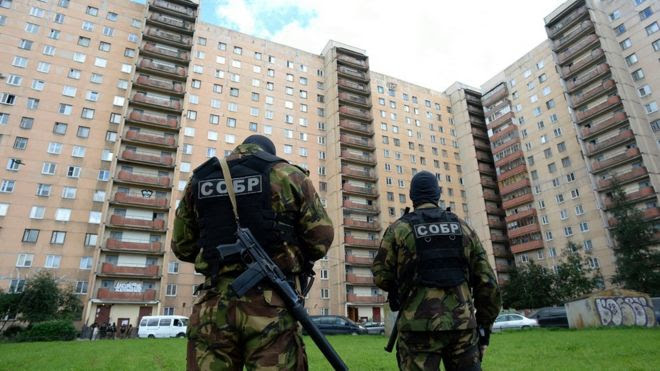 FSB operation at apartment block