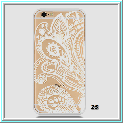 Iphone 66s Dainty Embossed White Stencil On Clear Case In
