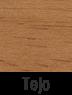 Muebles de madera en tejo