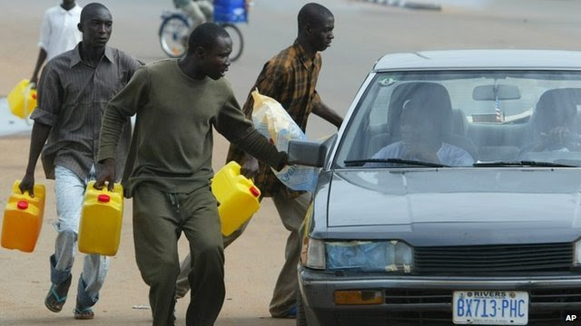 fuel being sold on the black market during a previous strike