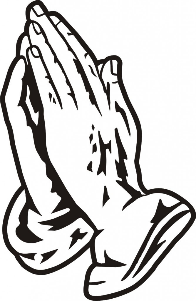 Praying Hands With Cross Drawing At Getdrawingscom Free For