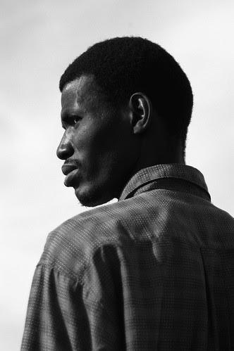 African Migrant, Retamar, Almería, Spain, January 2004
