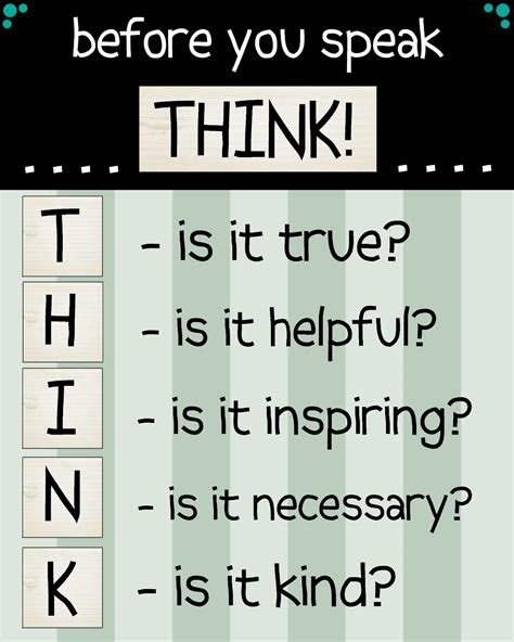 Quotes About Think First Before You Speak