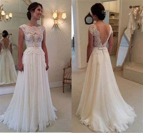 chiffon ivorywhite wedding bridal gown dress custom