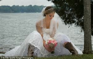And the bride wore cowboy boots! Scott Brown's daughter