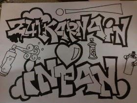 Grafiti Angka 18 Keren