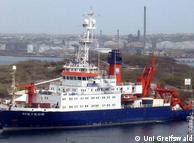 El barco de investigación alemán, Meteor.