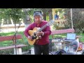 Street Busker Rocks Out Acoustic Guitar In Chile - Video