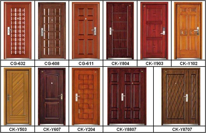 Cg-608 Luxury Steel-wood Armored Main Door Design - Buy Main Door ...