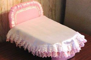 как сделать кровать для барби10