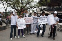 Protestas de hace unos días en Misantla, Veracruz. Foto: Germán Canseco.