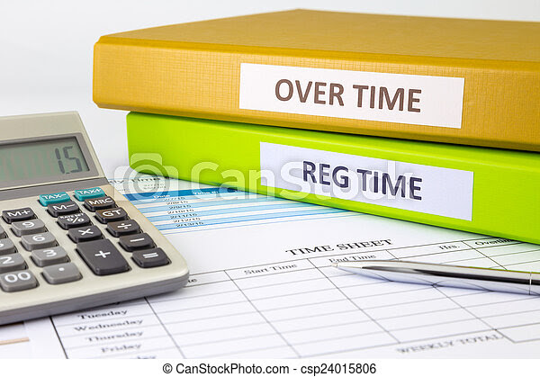 Stock Photography of Daily time record with blank payroll time ...
