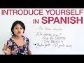 How To Introduce Yourself In Spanish Language