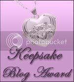 Keepsake blog award