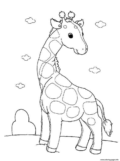 baby giraffe   girls animals printableb coloring