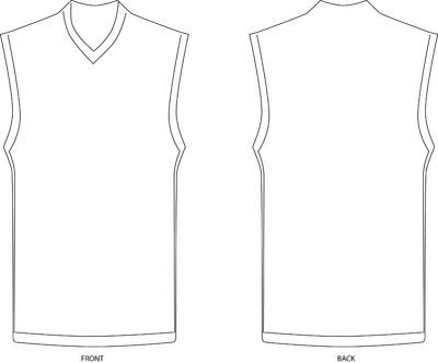 Blank jersey template - Media And Arts - Newschoolers.com