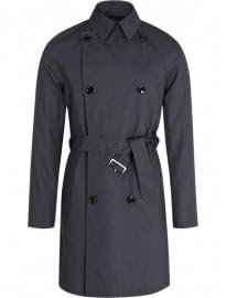 Reiss Simeon Double Breasted Trench Coat Mid Grey