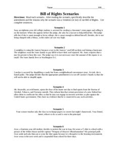 17 Best Images of Constitution Worksheets For Middle School  Bill of Rights Scenario Worksheet