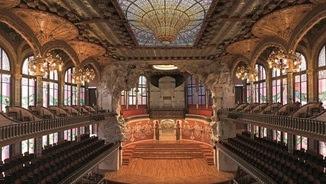 Vista de l'interior del Palau de la Música