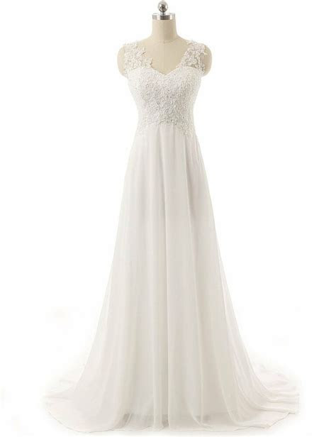 wedding dress   chiffon  lace wedding dress