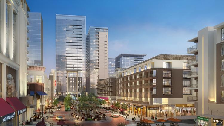 The $4 billion project will include a pedestrian friendly esplanade that will connect residents and shoppers with other parts of the mixed-use development.