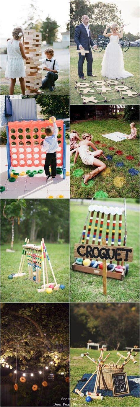 fun outdoor wedding reception lawn game ideas outdoor