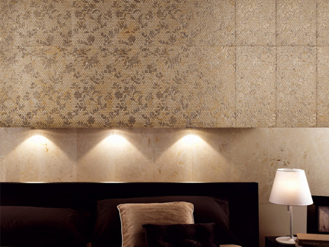 Decorative Marble Tile for Walls with Flower Pattern by Q-