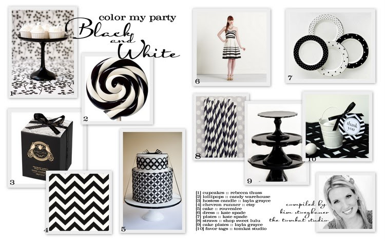 Color My Party Black White The