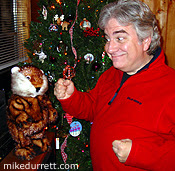 Photo: Mike boogies with The Gopher from ''Caddyshack''